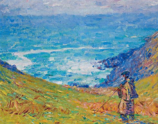 John Peter Russell - Pecheur sur falaise, 1900