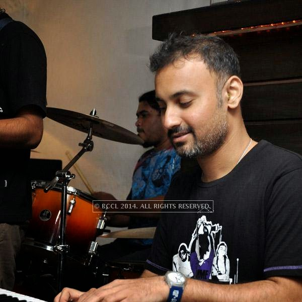 Sonai from the band Bramhakhyapa performs at Plush in Kolkata.