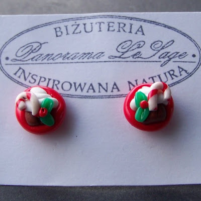 kolczyki z masy polimerowej babeczki słodkie różowe turkus fiolet czerwień śliczniusie earrings from the mass of polymer muffins sweet pink purple red turquoise