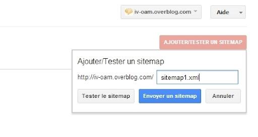 Ajouter le sitemap sur Google Webmaster Tools