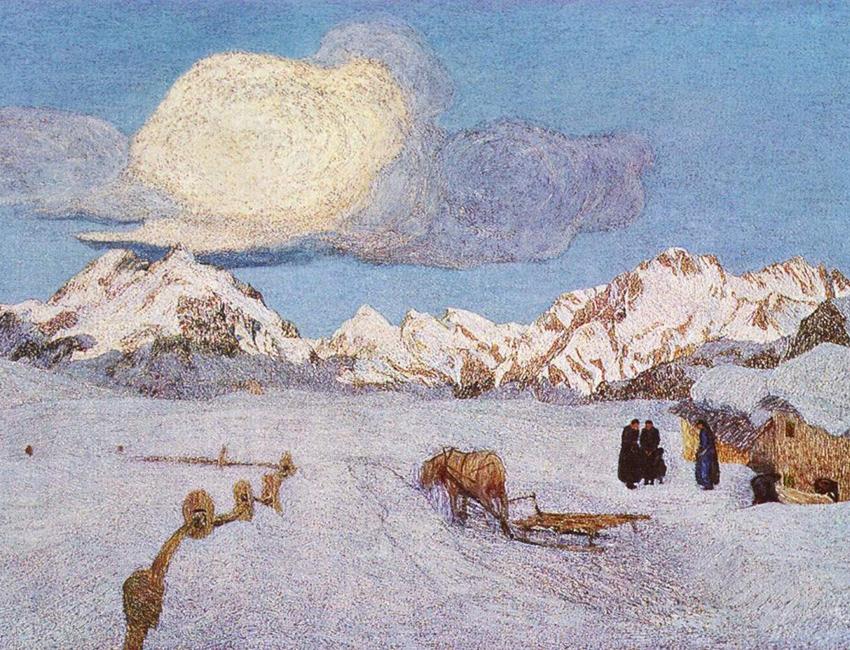 Giovanni Segantini - Alpen-Triptychon. La morte(Death)