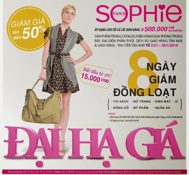 Sophie khuyến mại giảm giá đồng loạt