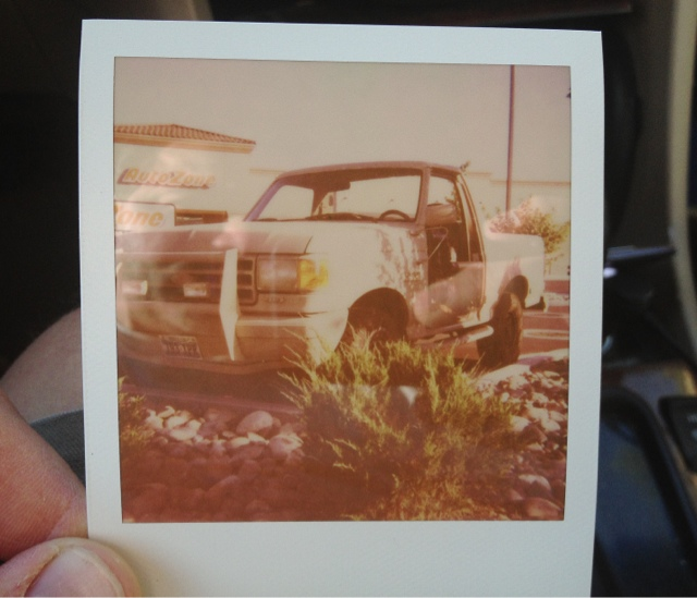 Autozone Rig with Sun 660 and poorly stored Impossible CP film, Andrew D. Barron©7/18/13 [iPhone 4S:645 Pro]