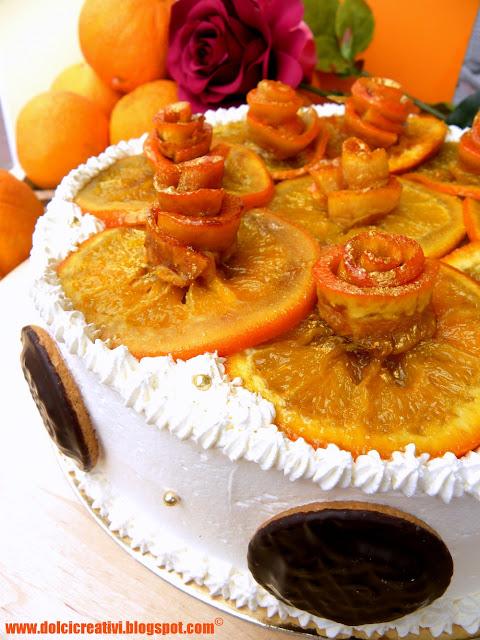 Torta baileys e arance