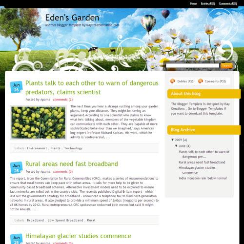 Edens Garden,blogger,Templates for blogger