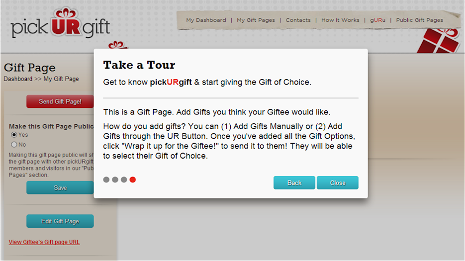 Gift Giving Made Easier: Create a Reverse Wish List on the pick UR gift Website #pickURgift