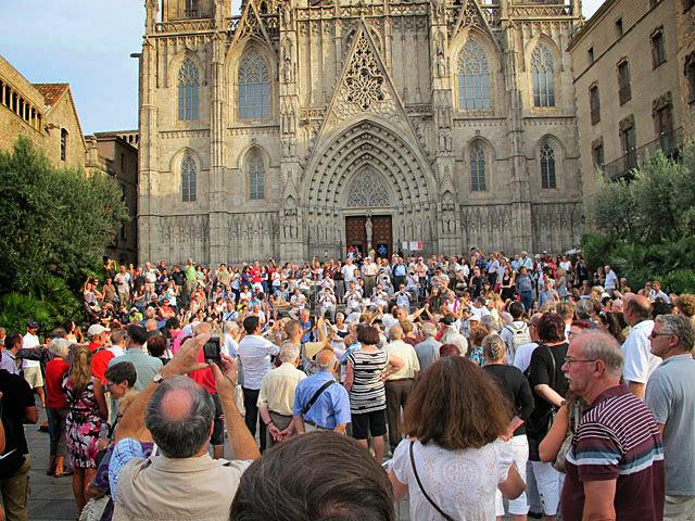 Barcelona Kirchenplatz
