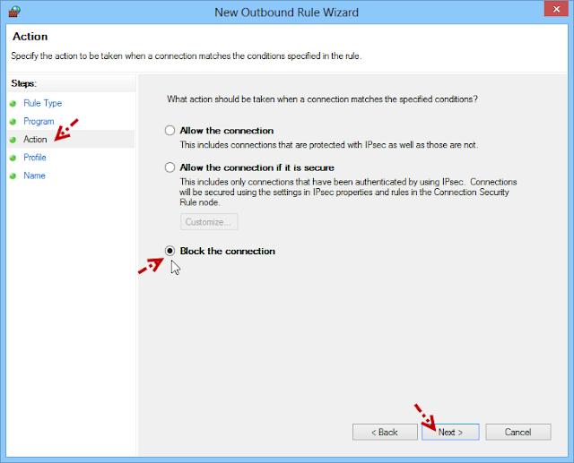 การบล็อกโปรแกรมไม่ให้เชื่อมต่ออินเตอร์เนตด้วย Windows Firewall Fwblockcon06