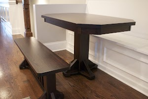 Woodland Dining Room Table and Bench in Oak