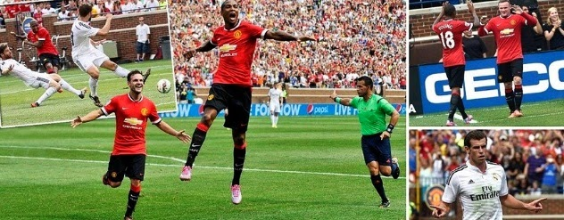 Manchester United 3-1 Real Madrid Highlights 2014 Friendly