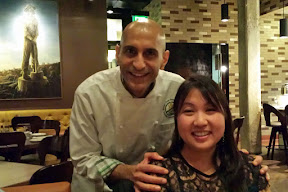 Chef Mehta and me at the NFCA GREAT Kitchens Gluten-Free Dinner at Imperial!