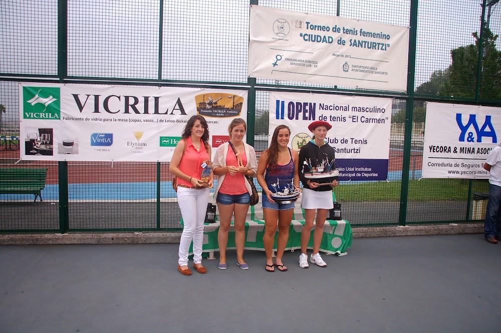 Torneo de tenis  la Mujer. Finalistas. Santurtzi