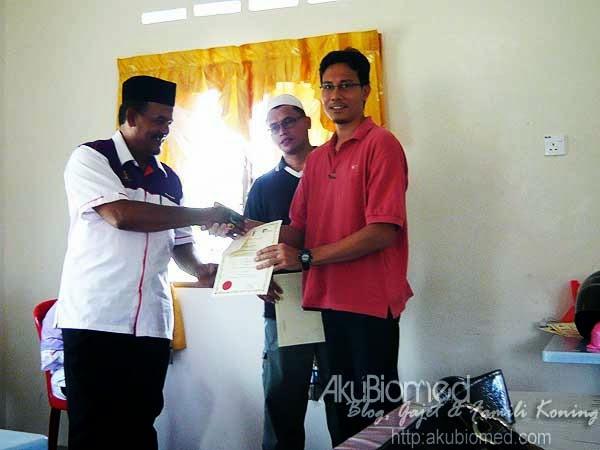 AkuBiomed menerima sijil penyertaan kursus