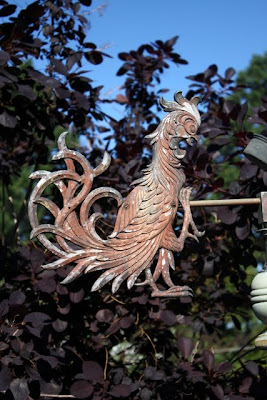 Metal rooster at an antiques shop in La Conner, Washington