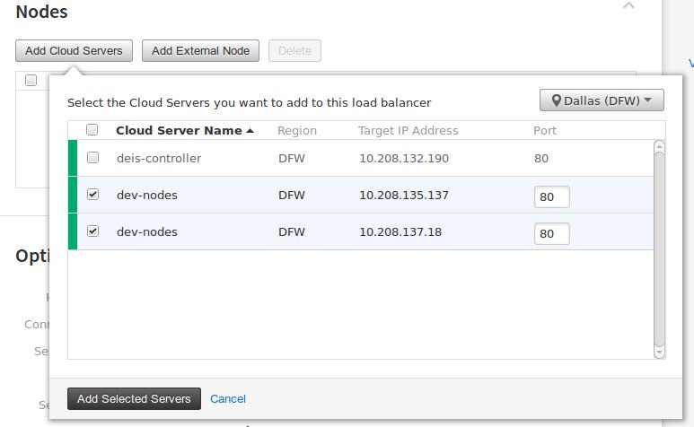 cloud lb servers