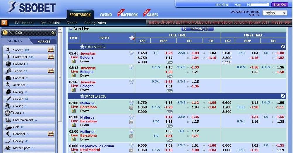 Betting Tutorial: Sbobet Basic Tutorial