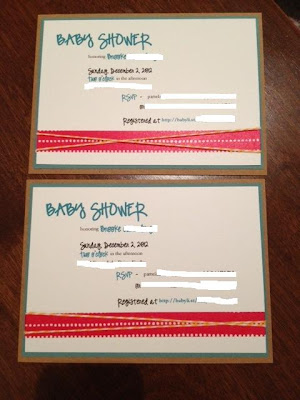 Baby Shower Invite {peasandcues}