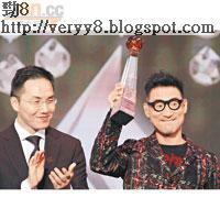張學友獲金曲35周年榮譽大獎,台下掌聲歡呼。