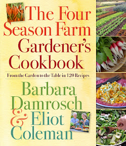 The Four Seasons Farm Gardener's Cookbook review Barbara Damrosch and Eliot Coleman gardening farming recipes local produce