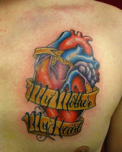heart Chest Tattoos