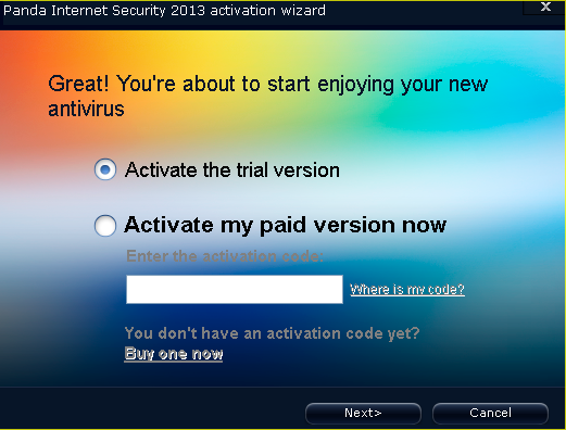 panda internet security 2013 free 180 days serial key step 3