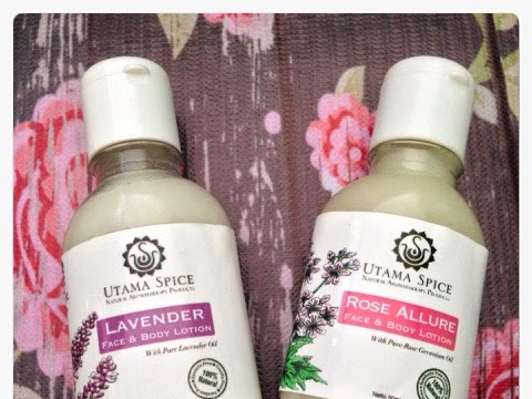 [Review] Utama Spice Face and Body Lotion in Rose Allure and Lavender