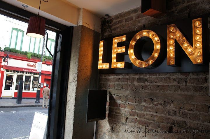 Leon restaurant Old Compton Street. London