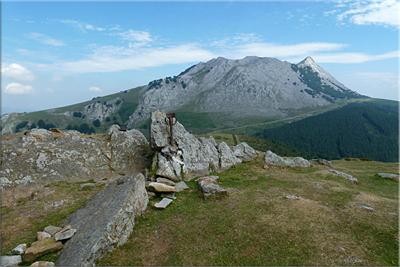 Cresta de Anboto vista desde Urkiolagirre