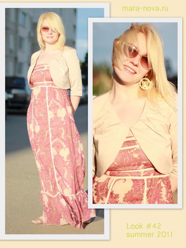 модные луки, макси платье лук, сарафан лук 2011, лето 2011 луки, луки от стилиста, романтический стиль