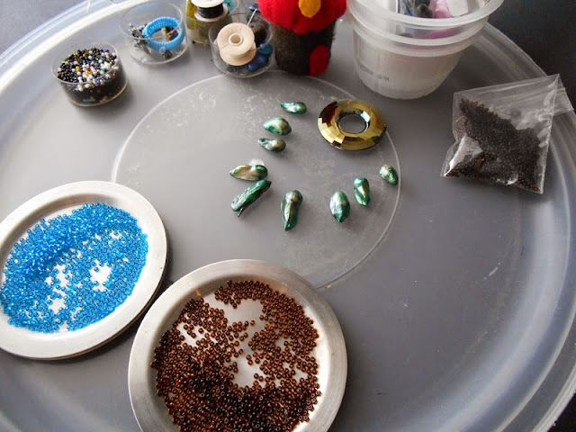 Cosmic Crystal Necklace in Progress