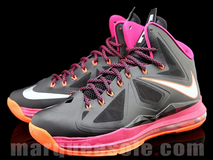 online store 4e96a c9d56 Second Look at Nike LeBron X in Miami Floridians Throwback Theme   NIKE  LEBRON - LeBron James Shoes