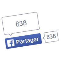 Facebook : Share button / Bouton de partage