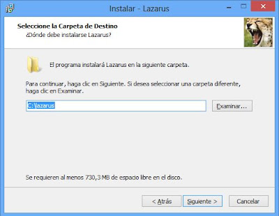 Instalar Free Pascal Lazarus en Windows 8