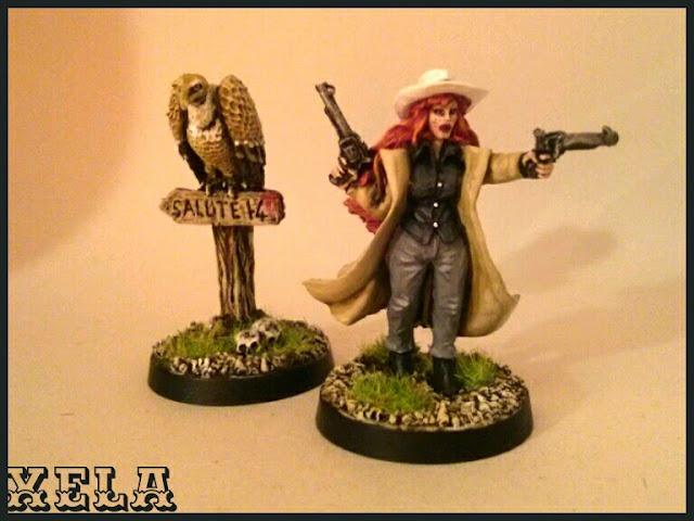 Cowgirl y Buitre del Salute 2014, Black Scorpion pintada por Xela