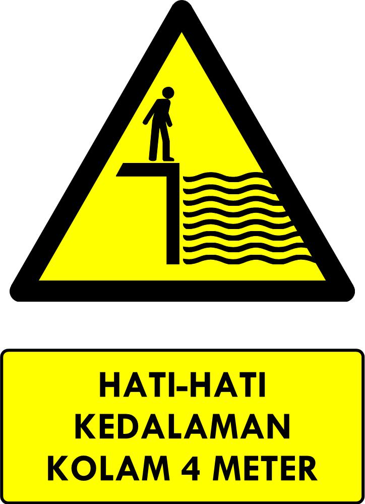 Rambu Bahaya Perairan Dalam