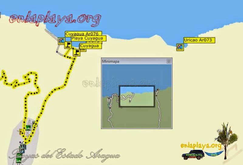 Mapa de Playas de Cuyagua