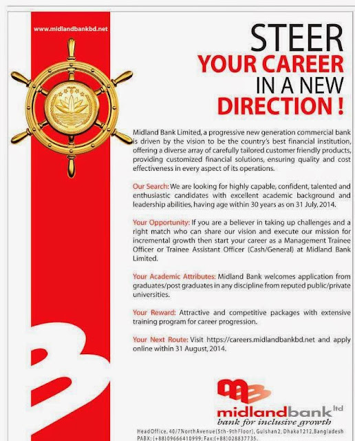 Midland Bank management trainee officer