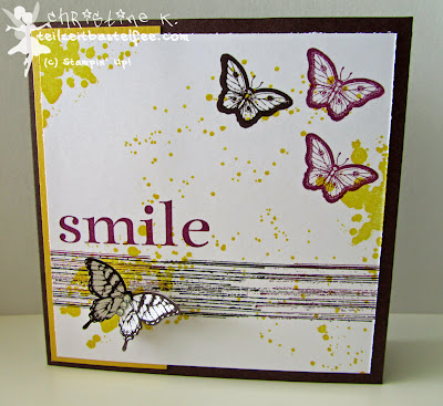 stampin up, inkspire_me challenge #153, papillon potpourri, gorgeous grunge, happy day, sonnenschein, birthday, geburtstag, schmetterling