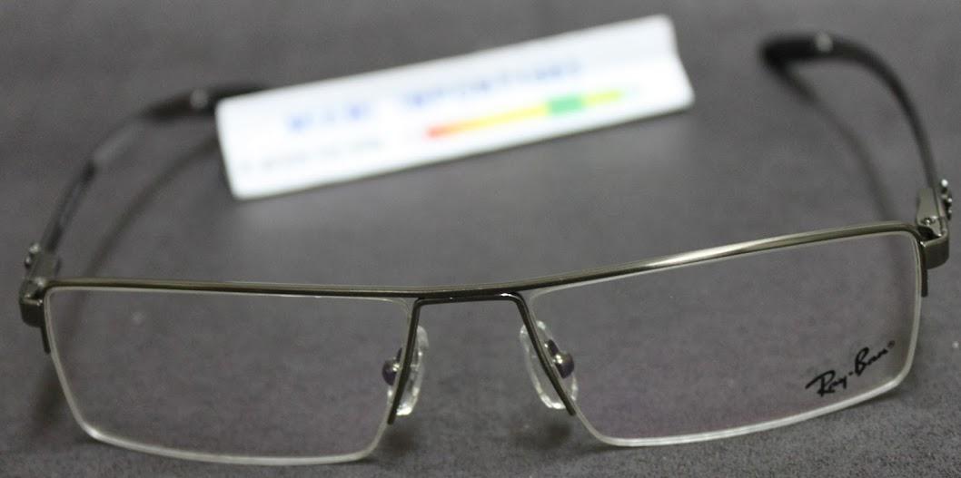 6e497ccdc Armação Óculos De Grau Ray Ban Rb6648 Grafite Fio De Nylon (Ray-Ban ...