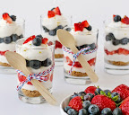 Eggless Strawberry and Blueberry Cheesecakes