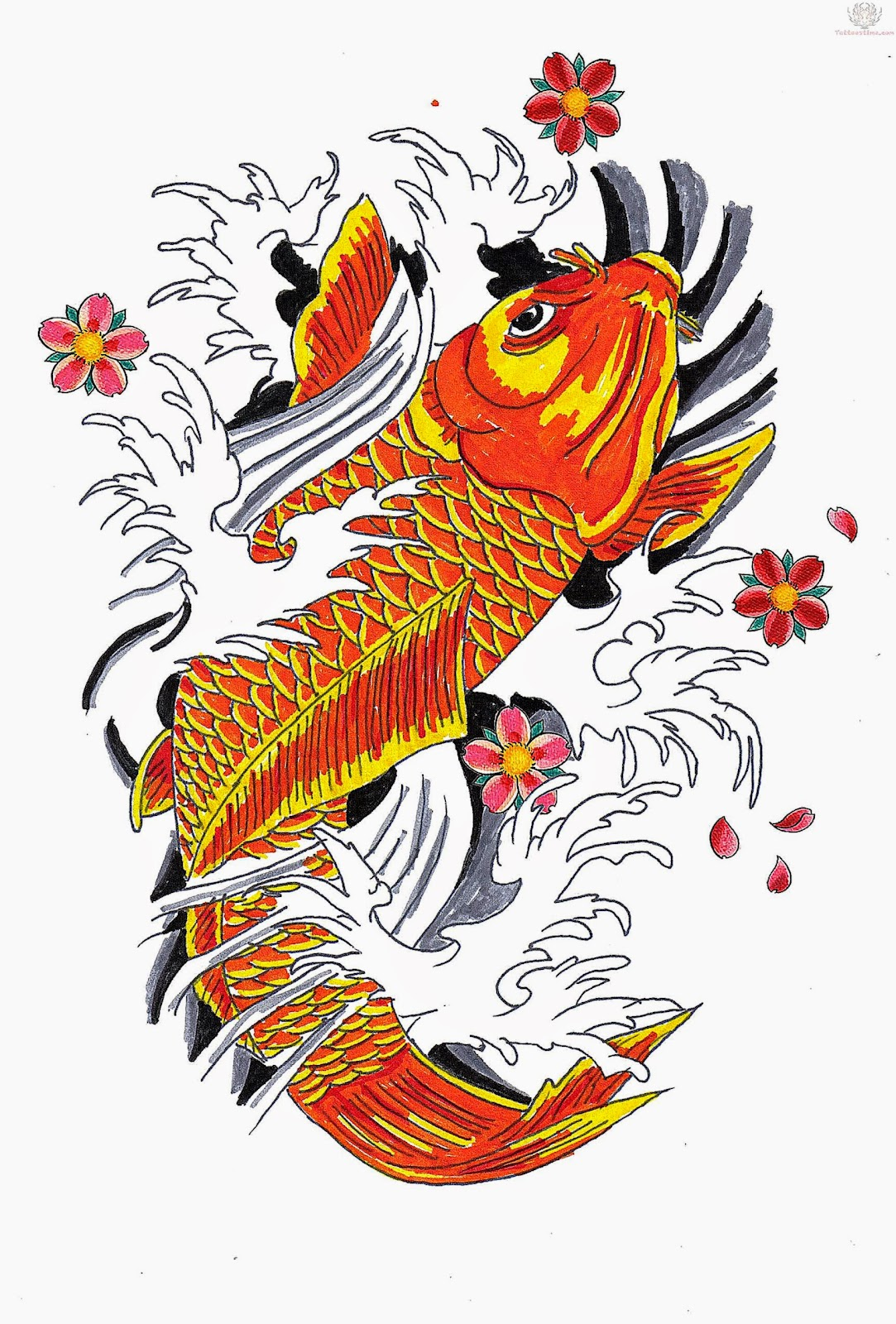 Koi Fish Tattoos on Pinterest  21 Pins