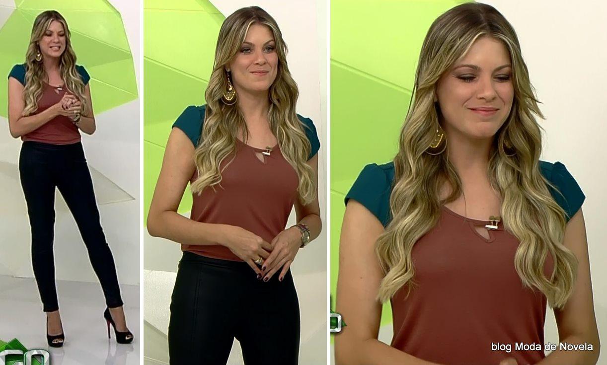 moda do programa Jogo Aberto - look da Renata Fan dia 26 de maio
