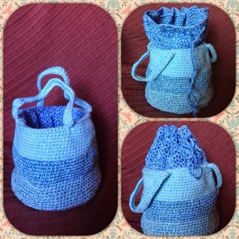 вязаное лукошко