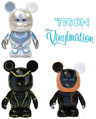 Tron Legacy Disney Vinylmation Series - Castor, Clu & Jarvis Vinyl Figures