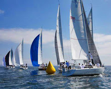 J/105s sailing off San Diego, California in regatta