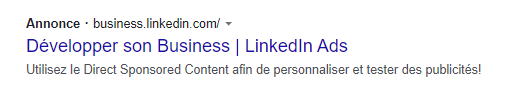 Campagne Adwords | annonce textuelle