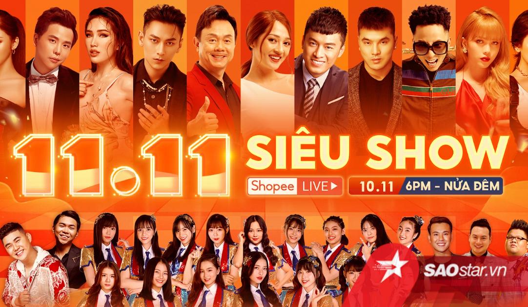 11.11 Siêu Show Shopee (cre: Sao Star)