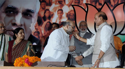 Narendra Modi's confidant Amit Shah replaces Rajnath Singh as BJP president; marks a new beginning for party