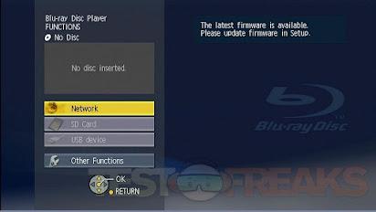 Panasonic dmp bd65 firmware update