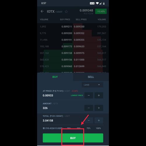 steps to buy IoTex